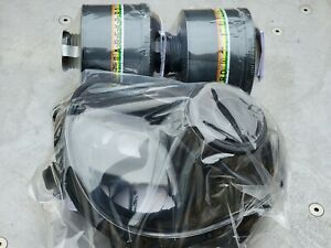 Sge 150 Gas Mask 2 New Mestel Nato 40mm Nbc cbrn Filters New Production Med reg