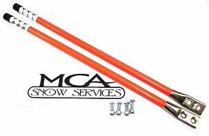 Western Snow Plow 24 Orange Guide Markers W Reflective Decal 62595