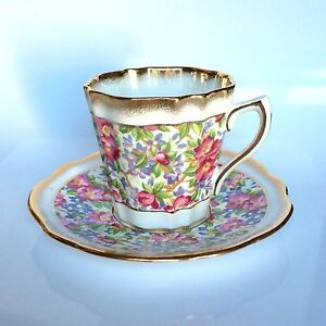 Vintage Rosina Lefton Chintz Teacup England