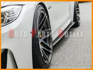 P Type Carbon Fiber Side Skirt Add on Lip For 15 17 Bmw F82 M4 Coupe Convertible