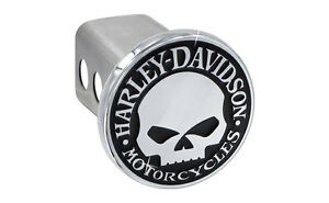 Harley Davidson Trailer Tow Hitch Cover Plug Featuring The Willie G Skull