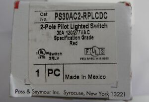 Vollroth On off Lighted Switch Red 23540 1 ps30ac2 rplcd new