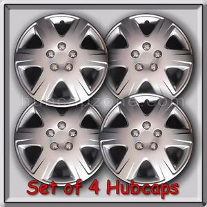 Set Of 4 15 Silver Toyota Corolla Hubcaps 2005 2008 Replica Wheel Covers