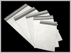 Poly Mailers plastic Envelopes White grey 2 35 Mil Various Sizes Wholesale