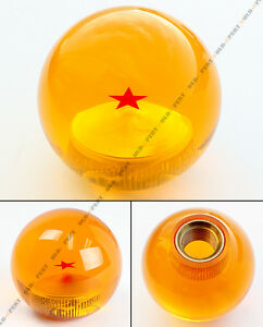 M10 X 1 25 Dragon Ball Z 1 Star Style Acrylic Round Shift Knob For Mitsubishi