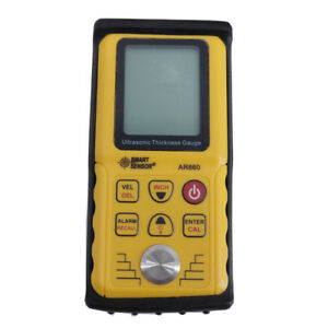 Smart Sensor Ar860 Digital Ultrasonic Thickness Gauge For Metal Plastic