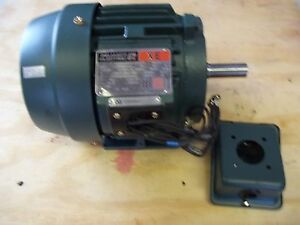New Reliance Electric Ac Motor P14g7403 1hp 1800 Rpm Frame 143t 3 Phase