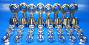 1 2 4 Link Rod End Kit W 1 2 3 8 Hm Spacers Heim Joints Bung 1 00 X 083