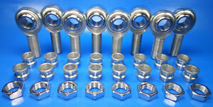 1 2 4 Link Rod End Kit W 1 2 3 8 High Misalignment Spacers Heim Joints