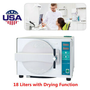 Usa 18l Dental Lab Autoclave Steam Sterilizer With Drying Function Fda Ce