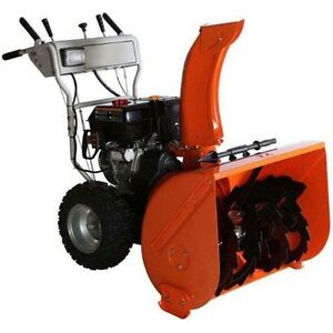 Dual Stage Snow Blower 50 Ft Throw 11 Hp 120 Volts Electric Start