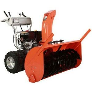 Dual Stage Snow Blower 45 Clear 15 Hp 50ft Throw 120v Electric Start