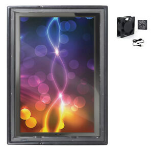 The Display Shield 30 40 Vertical Outdoor Display Enclosure With Fan