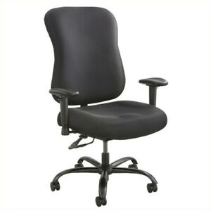Safco Optimus 400lb Big And Tall Office Chair Chairs In Black