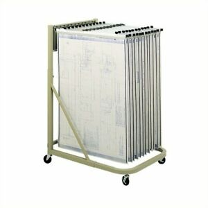 Filing Cabinet File Storage Mobile Hanging Files Metal Stand For Clamps In Sand