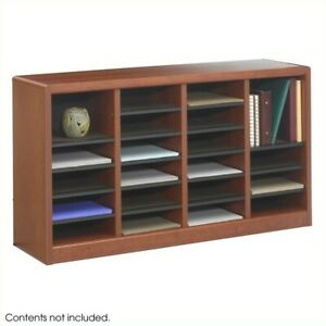 Safco E z Stor 24 Compartments Wood Literature Organizer In Cherry