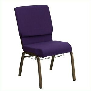 Flash Furniture Hercules Church Guest Chair In Royal Purple