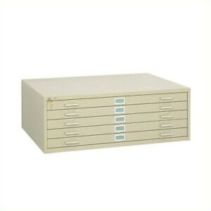 Safco 5 Drawer Metal Flat Files Cabinet For 36 X 48 Files In Tropic Sand