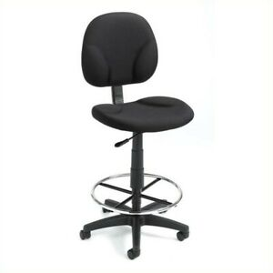 Boss Office Products Drafting Chair In Black