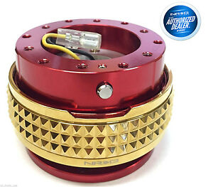 Nrg Steering Wheel Quick Release Gen 2 1 Red Body Gold Pyramid Srk 210rd cg