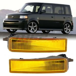 For 2003 2007 Scion Xb Winjet Oe Factory Fit Fog Light Bumper Kit Yellow Lens