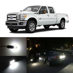 20x White Led Interior Bulbs Fog Reverse Tag Lights For 2008 2016 Ford F250 F250