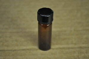 Qty 710 Fisher 15 X 45mm Amber Threaded Glass Vials With Caps 1 Dram 3 7ml