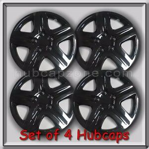 Set Of 4 16 Black Toyota Matrix Hubcaps For 2003 2010 Matrix Wheel Covers