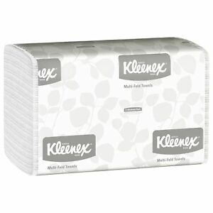 Kleenex Multifold Paper Towels 01890 White 16 Packs Case 150 Tri Fold Pap