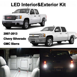16 X White Led Interior Exterior Lights Bulbs Kit For 2007 2013 Siverado Sierra