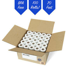 2 1 4 X 70 Thermal Receipt Paper 100 Rolls free Shipping