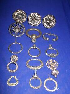 15 Piece Lot Of Antique Vintage Bronze Door Knob Cabinet Knob 15 Pcs For 50