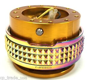 Nrg Steering Wheel Quick Release Gen 2 1 Gold Neo Chrome Pyramid Srk 210rg mc