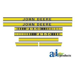 John Deere 2950 Tractor Decal Set