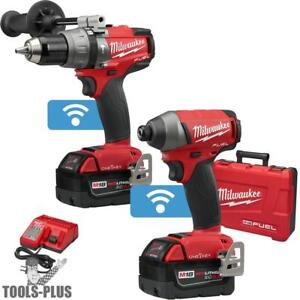 Milwaukee 2796 22 M18 Fuel 2 tool Hammer Impact Combo Kit With One key New