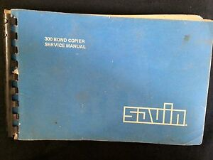 Savin Service Manual 300 Bond Copier