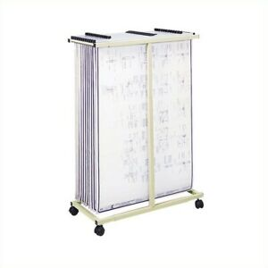 Filing Cabinet File Storage Mobile Vertical Metal Stand Tropic Sand Accessories