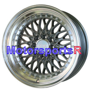 Xxr 536 16 16x8 Et 0 Gunmetal Deep Dish Step Lip Wheels Rims 4x100 Grey Stance