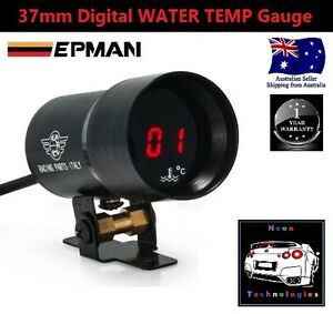 37mm Digital Water Temp Gauge red Led Turbo Temperature V8 Wrx Mps Sti 4wd Rb