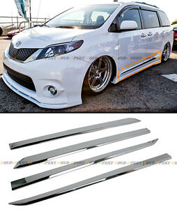 For 2011 2018 Toyota Sienna Chrome Vip Abs Side Door Body Molding Moulding Trim
