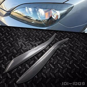 Real Carbon Fiber Eyebrows Eyelids For Mazda 3 Mazda3 Hatchback 5d 5dr 2004 2009