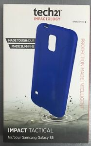 GENUINE TECH21 IMPACT TACTICAL COVER FOR SAMSUNG GALAXY S5 S5 Neo T21 4023 BLUE GBP 3.95