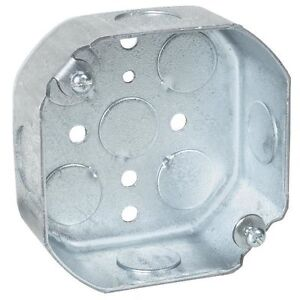 Case Of 50 4 Steel City Octagon Electrical Ceiling Box Free Shipping