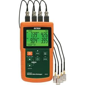 Industrial 4 channels Vibration Meter Velocity Acceleration Measurement Sd Card