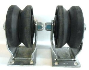 Durable Sc Superior Casters V groove Maxrok Caster Wheel 4 X 2 Lot Of 2