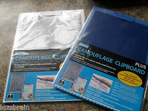 Kespon Plus Camouflage Clipboard Royal Blue White Lot Of 5 Pieces