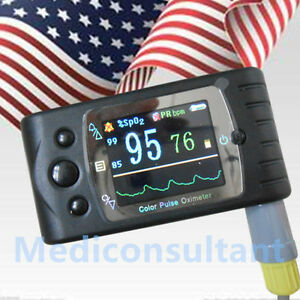 us Stock Contec Cms60c Blood Oxygen Spo2 Monitor Pulse Oximeter Adult Probe sw
