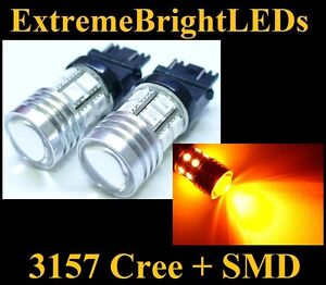 Two Orange Amber 3156 3157 Cree Q5 12 smd Turn Signal Lights