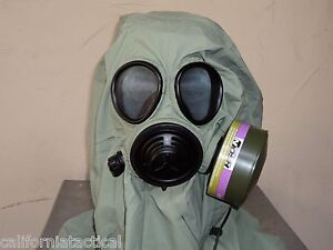 Military 40mm nato Gas Mask W drink Port Nbc cbrn Filter Hood Carry Pouch