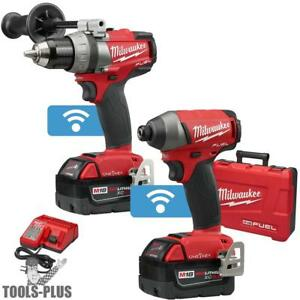 Milwaukee 2795 22 M18 Fuel 2 tool Combo Kit With One key New
